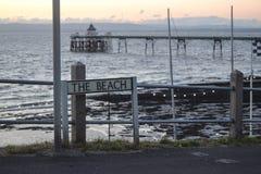 Il segno della spiaggia Fotografia Stock Libera da Diritti