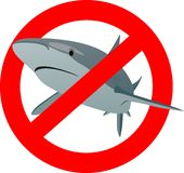 Il segno dello squalo Immagini Stock