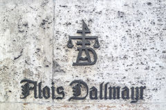 Il segno di Alois Dallmayr Immagine Stock Libera da Diritti