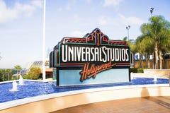 Il segno di Hollywood degli studi universali fotografie stock libere da diritti