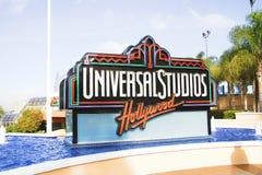 Il segno di Hollywood degli studi universali immagini stock