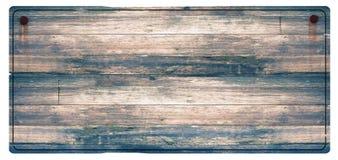 Il segno di legno ha arrugginito chiodi fotografie stock