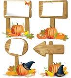 Il segno di legno si imbarca sul ringraziamento illustrazione di stock