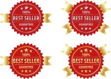 Il segno e l'argento dell'oro del best-seller firmano, identificano il modello Fotografia Stock