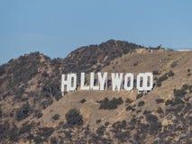 Il segno famoso di hollywood fotografie stock libere da diritti
