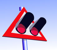 Il segno ferroviario Fotografia Stock