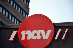 Il segno norvegese dell'amministrazione di assistenza sociale e del lavoro Immagine Stock Libera da Diritti