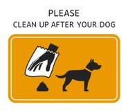 Il segno pulisce dopo il vostro cane Fotografia Stock Libera da Diritti
