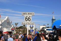 Il segno storico di Route 66 fotografie stock libere da diritti