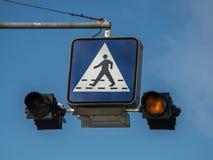 Il semaforo Fotografie Stock Libere da Diritti