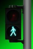 Il semaforo pedonale va Fotografie Stock Libere da Diritti