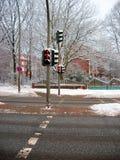 Il semaforo rosso del piede Immagine Stock Libera da Diritti