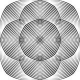 Il semitono astratto allinea il fondo geometrico Fotografia Stock