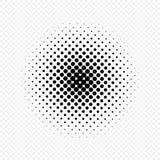 Il semitono circonda l'effetto, modello di punto Illustrazione di vettore Isolato su fondo trasparente Fotografia Stock