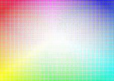 Il semitono dell'arcobaleno punteggia il fondo geometrico fotografia stock libera da diritti