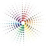 Il semitono punteggia il fondo astratto di colore Immagine Stock