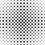 Il semitono punteggia il modello senza cuciture di vettore Cerchi di semitono illustrazione di stock