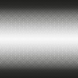 Il semitono senza cuciture orizzontale dei quadrati arrotondati diminuisce al centro, su bianco Fondo di semitono Contrasty Vetto Fotografia Stock Libera da Diritti