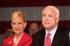 Il senatore John McCain Fotografie Stock