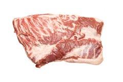 Il seno fresco della carne suina con fuori disossa Immagini Stock Libere da Diritti