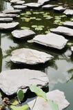 Il sentiero per pedoni di piegamento della pietra facente un passo Immagine Stock