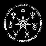 Il Septener di nuova età Sette più alti pianeti di astrologia (v 2) Immagine Stock Libera da Diritti