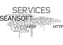 Il Services Bangalore Web Development Company Bangalore Seo Services Word Cloud Concept Photos stock