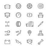 Il servizio automatico assottiglia le icone Immagini Stock Libere da Diritti