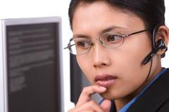 Il servizio di assistenza al cliente sta ascoltando   Immagini Stock Libere da Diritti