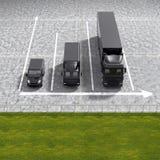 Il servizio logistico del nero del trasporto di affari rappresenta graficamente il illustrati Immagine Stock Libera da Diritti