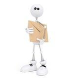 Il servizio postale bianco 3D sulle molle. Fotografie Stock