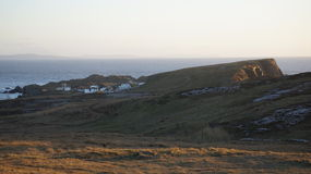 Il set cinematografico di Star Wars alla baia di Breasty in Malin Head, Co Il Donegal, Ir Fotografia Stock
