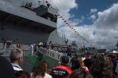 Il settantacinquesimo anniversario della marina reale della Nuova Zelanda Immagini Stock Libere da Diritti