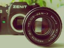 Il 22 settembre, 2017 Arzamas, vecchio zenit della macchina fotografica della Russia Immagine Stock