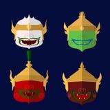 Il Siam ramakien lo stile del khon della Tailandia illustrazione di stock