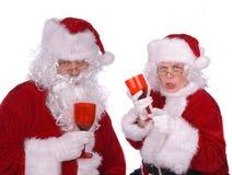 Il sig. e la sig.ra Claus sono bevuti Fotografia Stock Libera da Diritti