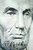 Il sig. Lincoln abbellisce la fattura del dollaro cinque Fotografie Stock Libere da Diritti