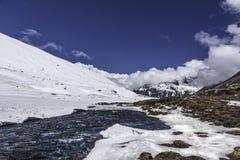 Il Sikkim allo zero assoluto Fotografie Stock Libere da Diritti
