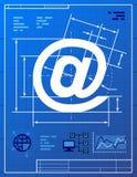 Il simbolo del email gradisce il disegno del modello Fotografia Stock