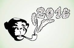 Il simbolo del nuovo anno con un tubo e una a Illustrazione Vettoriale