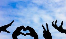 Il simbolo della mano Fotografia Stock Libera da Diritti
