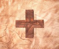 Il simbolo di legno decorativo della cifra dell'alfabeto più la somma canta la lettera del segno illustrazione della rappresentaz royalty illustrazione gratis