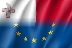 Il simbolo Malta è membro di UE Immagine Stock
