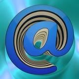Il -simbolo mostra le tecnologie informatiche di spedizione online Immagine Stock Libera da Diritti