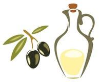 Il simbolo verde oliva, icona ha isolato l'illustrazione Fotografie Stock Libere da Diritti