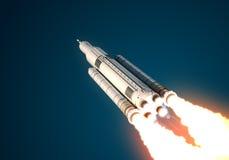 Il sistema del lancio dello spazio decolla Fotografia Stock