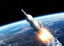Il sistema del lancio dello spazio decolla Immagine Stock Libera da Diritti