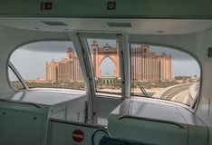 Il sistema della metropolitana del Dubai, UAE immagini stock