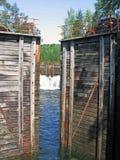 Il sistema della serratura del canale di Telemark Immagini Stock