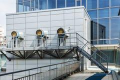 Il sistema di HVAC del centro di affari Immagini Stock Libere da Diritti